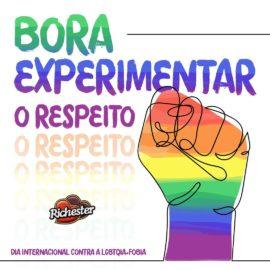 Bora experimentar o respeito? #BoraExperimentar #diainternacionalcontraahomofobia...