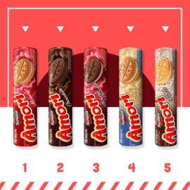 Todo mundo ama os biscoitos Amori, mas queremos saber: Qual desses você mais gosta? E...