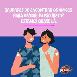 O Ceará, casa daRichester, está próximo de vacinar a maior parte da população com...